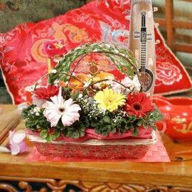 Sensationally Auspicious Chinese New Year Flowers Basket