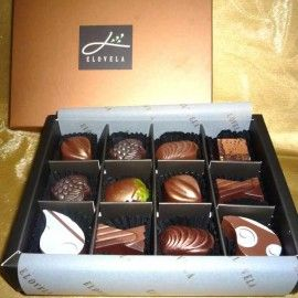 """Elovela"" Gourmet (Fresh)Chocolate 12 pcs"