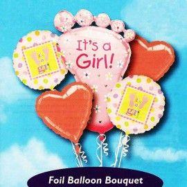First Step Balloon Bouquet (Girl)