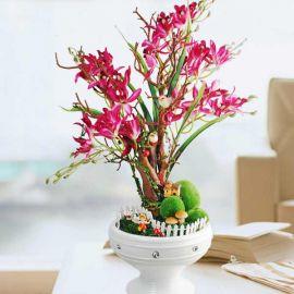 Artificial Orchid Table Arrangement