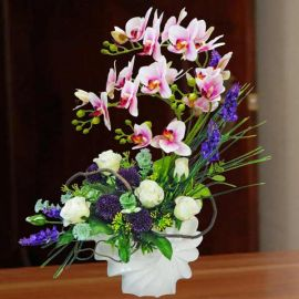 Artificial Phalaenopsis Orchid Table Arrangement 50cm Height
