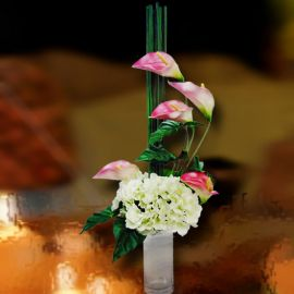 Artificial Hydrangeas & Cala Lilies Table Arrangement