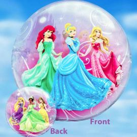 Add-On 22 Inches Helium Filled Round (Disney Princess) Floating Bubble Balloon
