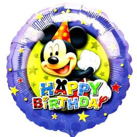 Add On Happy Birthday, Mickey Mouse (Round)