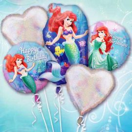 Add-On 5 pcs in A Set Disney Princess Floating Helium Bouquet Balloons