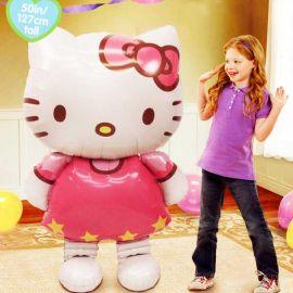 "Hello Kitty Walks On Air Balloon 50"" / 127cm Tall"