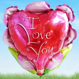 Add-on 9 inches ( I Love You ) balloon