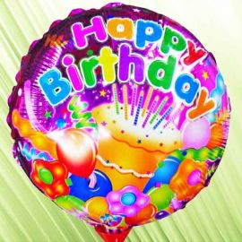 Add on Happy Birthday 9 inches Foil Balloon