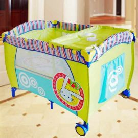 Baby Playpen - Blue/Green Color