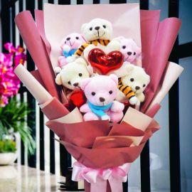 6 Mini Bear Bouquet