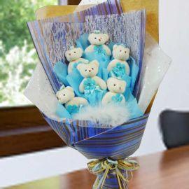 6 Mini ( 4 inches ) Bear Bouquet