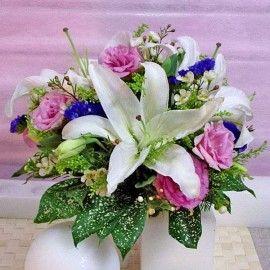 Casablanca Lilies & Eustoma Pink Bouquet