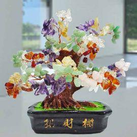 Multi-Crystal Wish-fulfilling Gem Tree 15cm Height