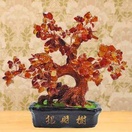 Mini Bonsai Agate Feng Shui Crystal Tree 23cm Height