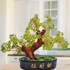 Peridot Gemstone (橄榄石宝石) Bonsai Tree 18cm