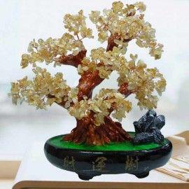 CITRINE Crystal Bonsai Tree H28cm