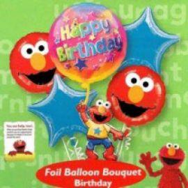 Elmo Birthday Floating Bouquet Balloon ( 5pcs )