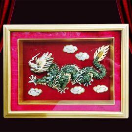 Dragon jade painting