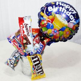 Assorted Sweets / Chocolates with Happy Birthday BalloonHappy