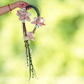 Hand Carry Pink Cymbidium Orchid bouquet(need 1 day advance order)