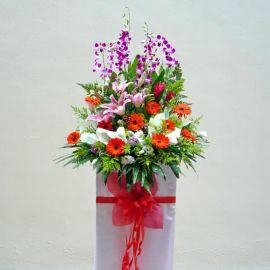 Mixed flower Arrangement 6 feet height