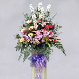 Mixed flower on Box stand 6 feet height