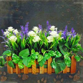 Artificial Lavender & Roses Arrangement