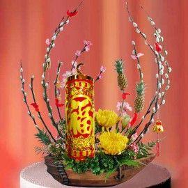 Gong Xi Fa Cai CNY Flowers Arrangement