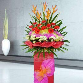 Red Gerberas Flowers Arrangement 5 feet Height