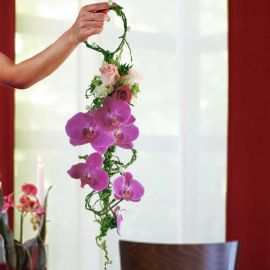 Hand Carry Purple Phalaenopsis Orchids Bouquet