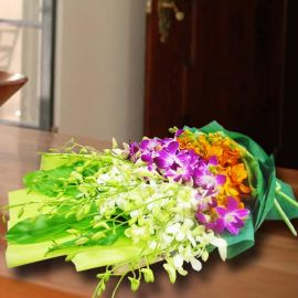Mixed Orchids Hand Bouquet