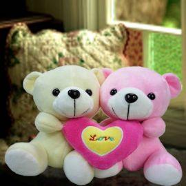 Add-On 15cm ( I Love U) Couple Bear
