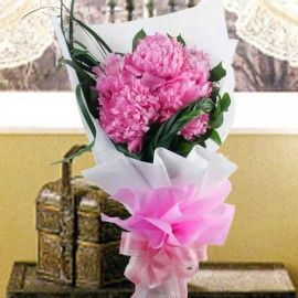 Peony Flowers Hand Bouquet Delivery