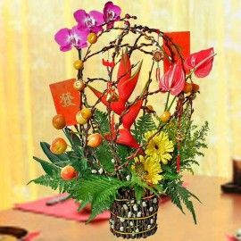 Auspicious Fortune Chinese New Year Table Arrangement