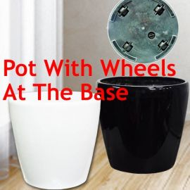 Add-On Planter Pot with wheels 35cm Diameter