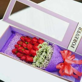 16 Red Roses In Gift Box