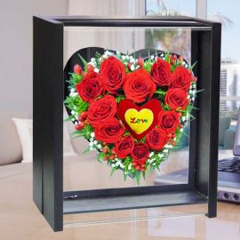 12 Red Roses in Special Standing Box