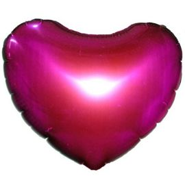 Add On Hot Pinky Balloon (Heart-Shaped)