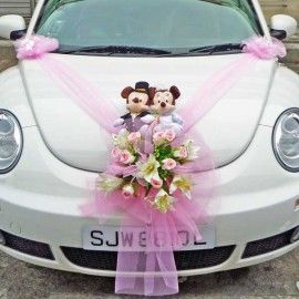 Singapore Wedding Car Decoration ( Soft Toy Not Included )