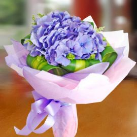 Blue Hydrangeas Handbouquet