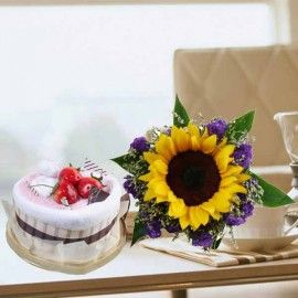 Cake Made By Towels & Sunflower
