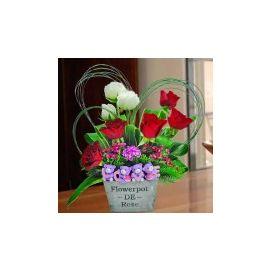 Love Bear & Roses Table Arrangement