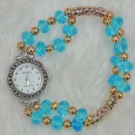 Blue Crystal Watch WA010