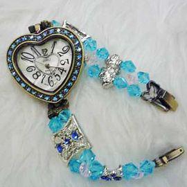 Blue Crystal Heart-Shape Watch