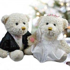 "Add-On 10"" Deluxe Wedding Bear"
