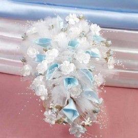 Wedding Car Blue Flowers decoration ( Pls Call Us )