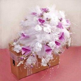 Wedding Car Purple Flowers decoration ( Pls Call Us )