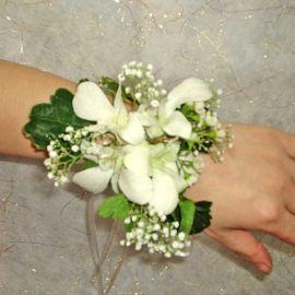 White Orchids Wedding Wristlets