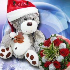 Christmas Rosey Teddy